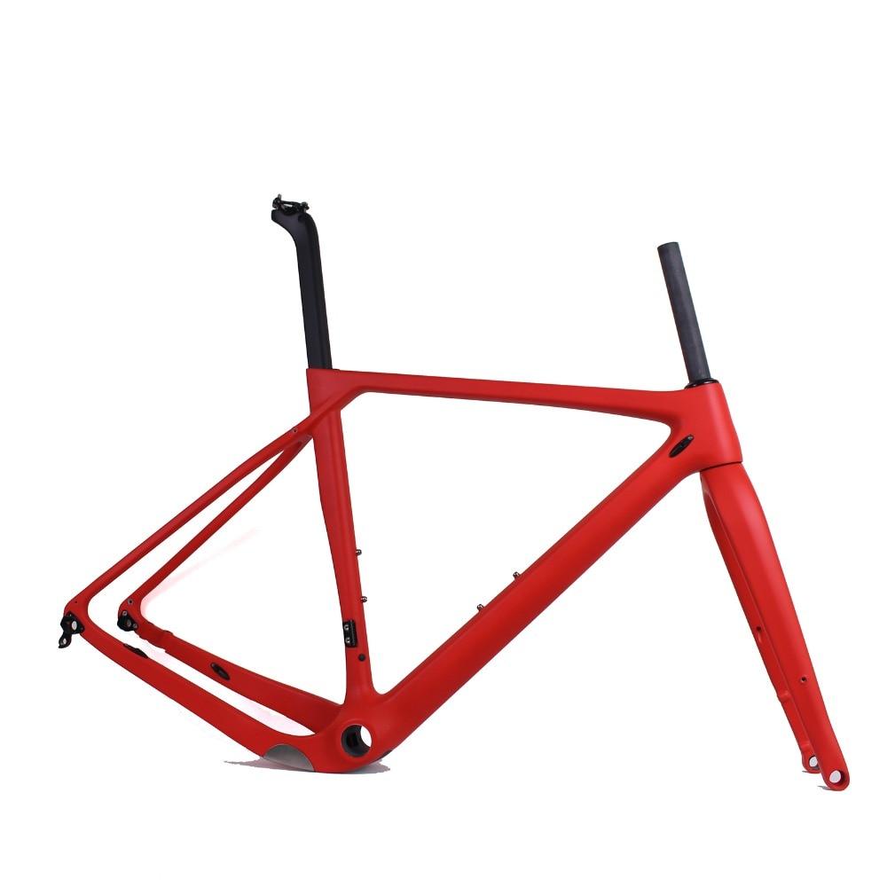 Gravel Bike Frameset Full Carbon Bicycle Frame Road Bike Cyclocross Frame Size:S/M/L/XL disc brake Gravel bike frameset