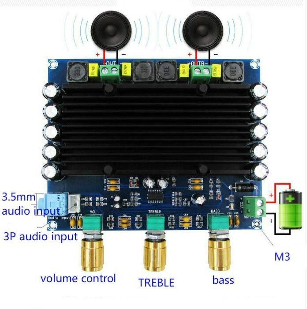 Online Shop Xh M549 20 Channel 2x150w Tpa3116d2 Digital Audio Hifi Wholesale Class D Amplifier 2x 80w Stereo Circuit Design Tda7498 150w Power Amplifiers Board Channels With Tone