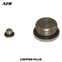купить 1/2'' Copper plug with sealing ring pneumatic plug air valve end cap flow plate bottom sub solenoid valve 1/2 inch stopper по цене 49.5 рублей