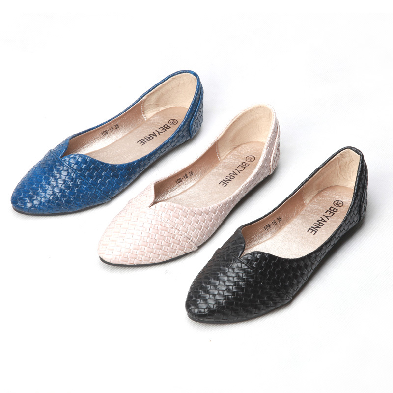 9778d00f51c Alibaba 109 Women On Casual From Autumn Woven 2015 Retro Punt Spring Shoes  Pointed 18 Flat ...