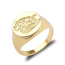 Fajne tajne usługi niestandardowe sygnet pierścienie dla kobiet mężczyzn biżuteria złoty kolor stop cynkowy mężczyźni pierścienie najwyższej jakości tanie tanio feimeng jewelry Ze stali nierdzewnej Unisex Metal Rocznica Brak Nastrój tracker Moda Klasyczny Wszystko kompatybilny Zestawy dla nowożeńców