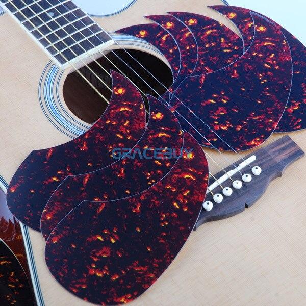 Alice Acoustic Guitar Pickguard 40 41 42 R64mm Red Color Plastic Professional Pick Guard Sticker