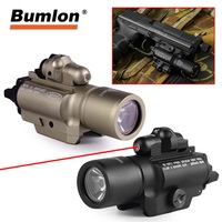 X400 LED Flashlight Weapon Light M4 Rifle 20mm Picatinny Weaver Rail Mount With Red LaserSight Combo For Tactical Hunting 8 0004
