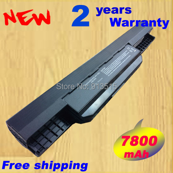 7800mAH Laptop batterij voor Asus A43 A53 A53S A53z A53SV A53SV K43 - Notebook accessoires