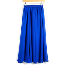f9f904e67236 Newest Women's Pastel Flowy Volume Candy Coloured Chiffon Skirt Pleated  Maxi Long Skirt Plus Size S M L