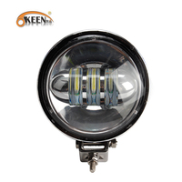 OKEEN 1pcs 60W Round Offroad LED Work Light bar Car Spot Flood Beam Driving Lighting led Bar 4x4 SUV Boat Fog Lamp 12V 24V