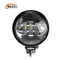 OKEEN 1pcs 60W Round Offroad LED Work Light bar Car Spot Flood Beam Driving Lighting led Bar 4x4 SUV Boat Fog Lamp 12V 24V