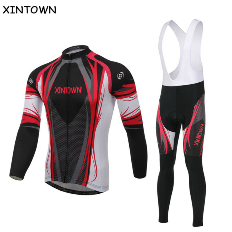 Women/'s Long Cycling Jersey Pants Set Bike Bicycle Sport Clothing Wear Suits