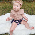 Baby Girls Cotton T Shirt Summer Short Sleeve T-shirt Pink Flower Collar Baby Clothes for Girls Baby Cute shirt