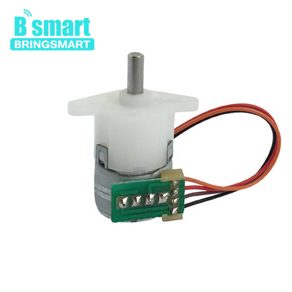 Bringsmart GM12-15BY Mini Stepping Motor Reduction Ratio 1: 50 Geared Stepper DC Gearbox use for Printer Motor Intelligent Motor nema23 geared stepping motor ratio 50 1 planetary gear stepper motor l76mm 3a 1 8nm 4leads for cnc router