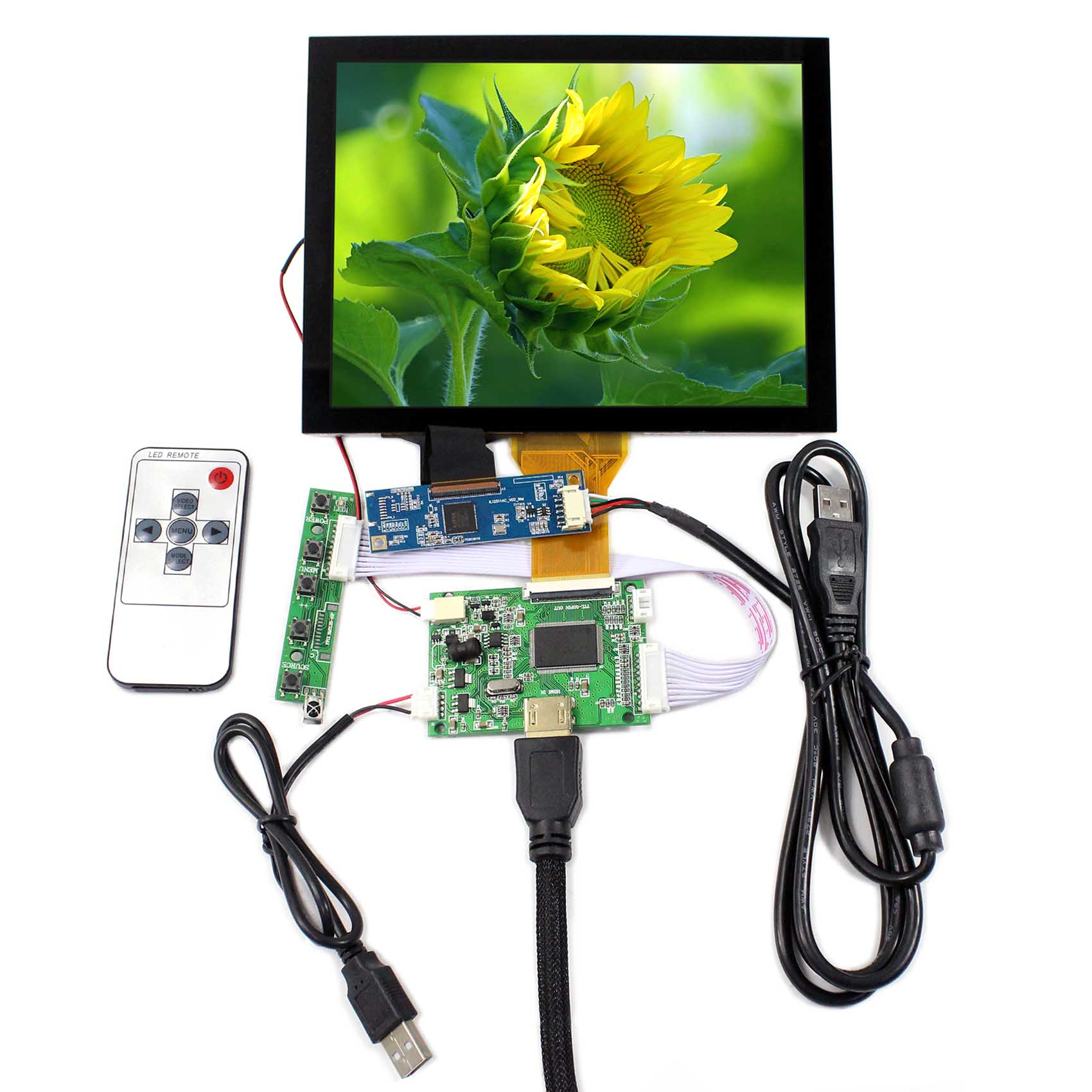 8inch LCD Screen 800x600 Resolution VS080TC-A1 Capacitive Touch Panel VS-TY50-V2 HDMI LCD Controller Board EJ080NA-05A hdmi vga av audio usb lcd controller board 8inch 800x600 ej080na 05a lcd screen