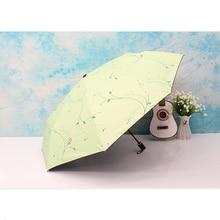 Folding umbrella Flower UV protection Sun Three-folding Umbrella large
