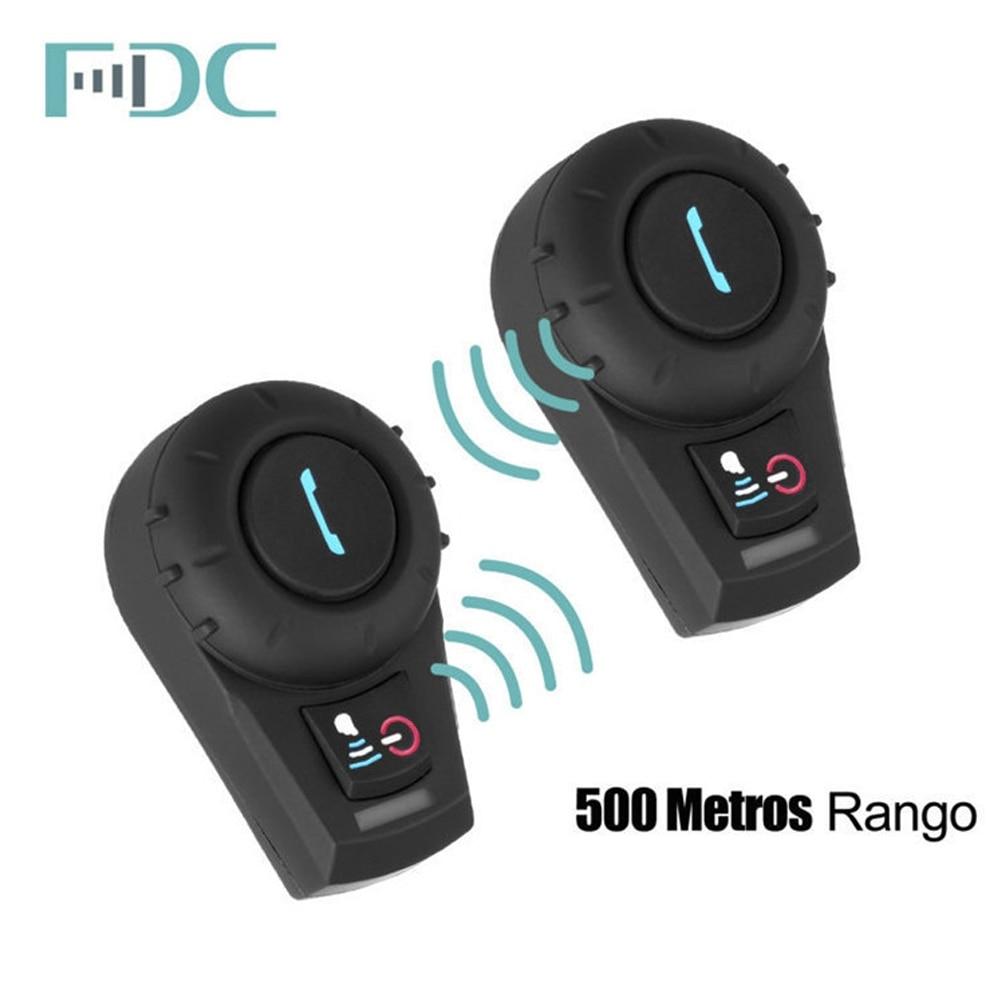 2PCS Freedconn FDC-01VB Bluetooth Motorcykel Interphone med FM Fuld - Motorcykel tilbehør og dele - Foto 3