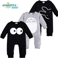 Cartoon Totoro Baby Romper Newborn Long Sleeve Jumpsuits Infant Boys Girls Spring Clothes Cotton Kid Toddler