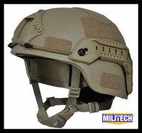 MILITECH пустыня Тан де Митч nij level IIIA 3A Тактический пуленепробиваемый арамидный шлем ACH ARC OCC циферблат лайнер арамидных Баллистических Шлем