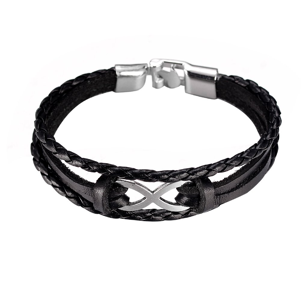 20mm Surf Charm Bracelet 3 Strands Rope Braided Manmade Leather Mens Womens  Bracelet Fashion Wristband Friendship
