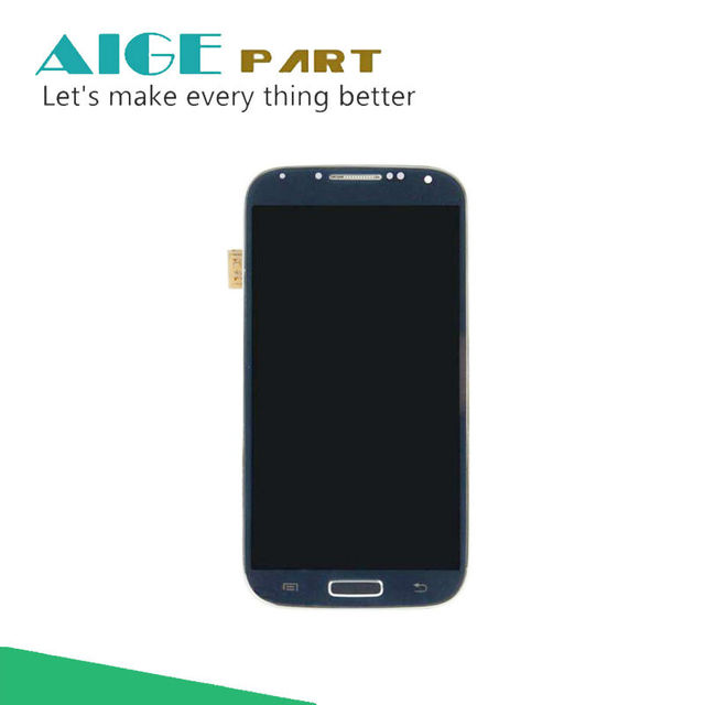 100% test for samsung galaxy s4 gt-i9505 lcd screen display toque digitador assembléia com frame repartment1920 * 1080