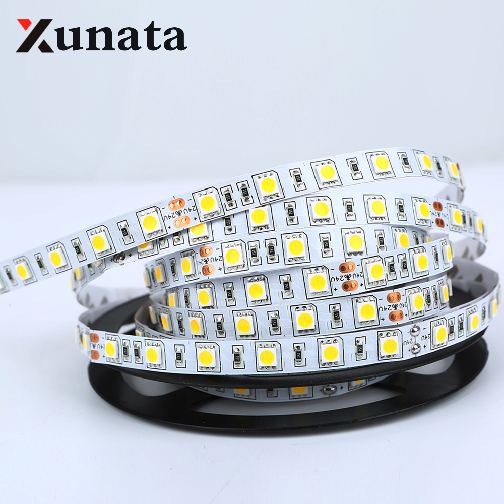 buy 24v led strip 5050 waterproof flexible rope light 5m 300leds cold warm. Black Bedroom Furniture Sets. Home Design Ideas