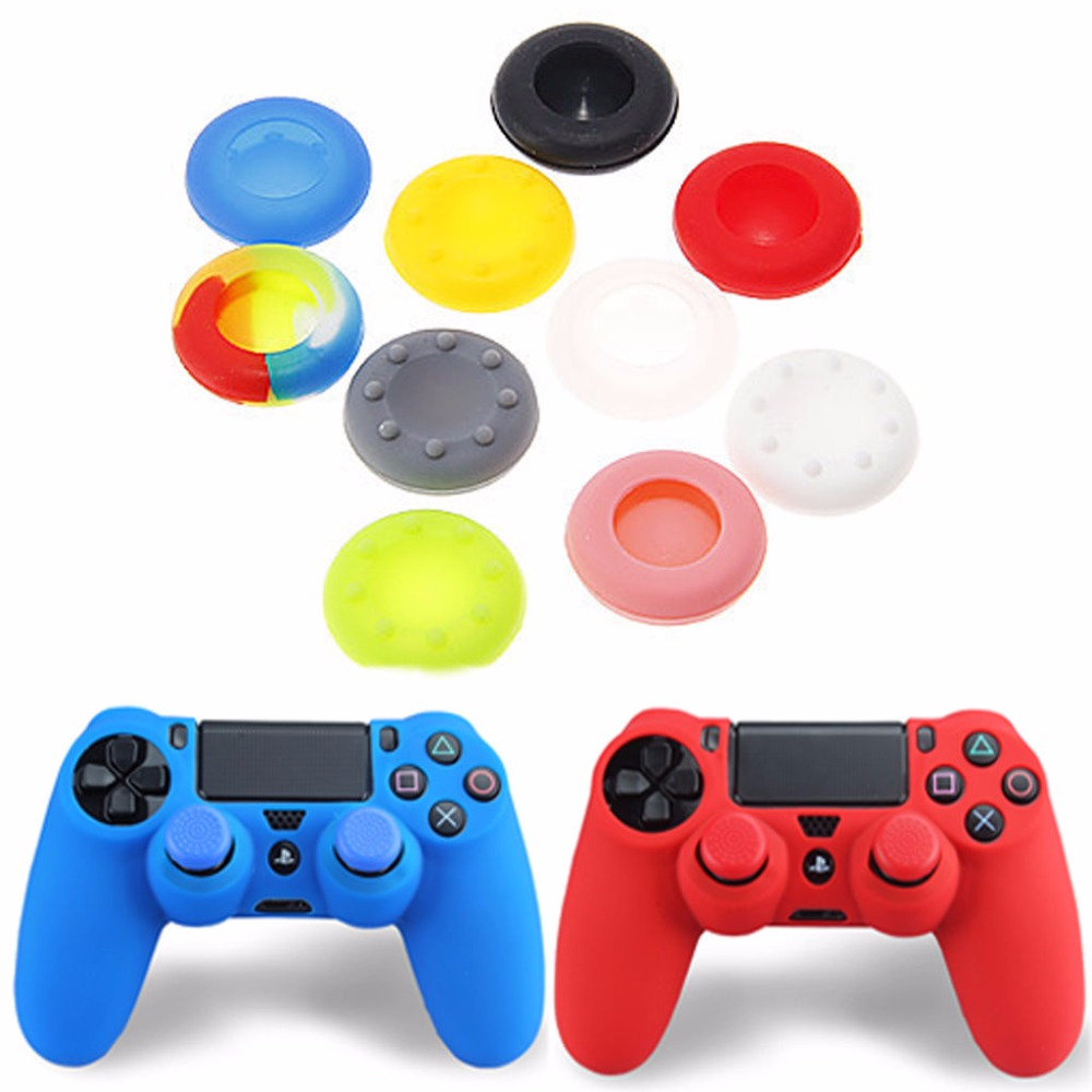 Gen Game Rubber Silicone Analog Thumb Stick Grips Cap Cover for PS4 Pro Slim for Xbox One Elite S Controller Thumbsticks Caps