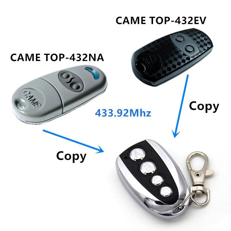 433,92 MHz duplicador copia vino TOP432NA control remoto vino TOP432EV mandos a distancia con la batería Universal para puerta de garaje llave Fob