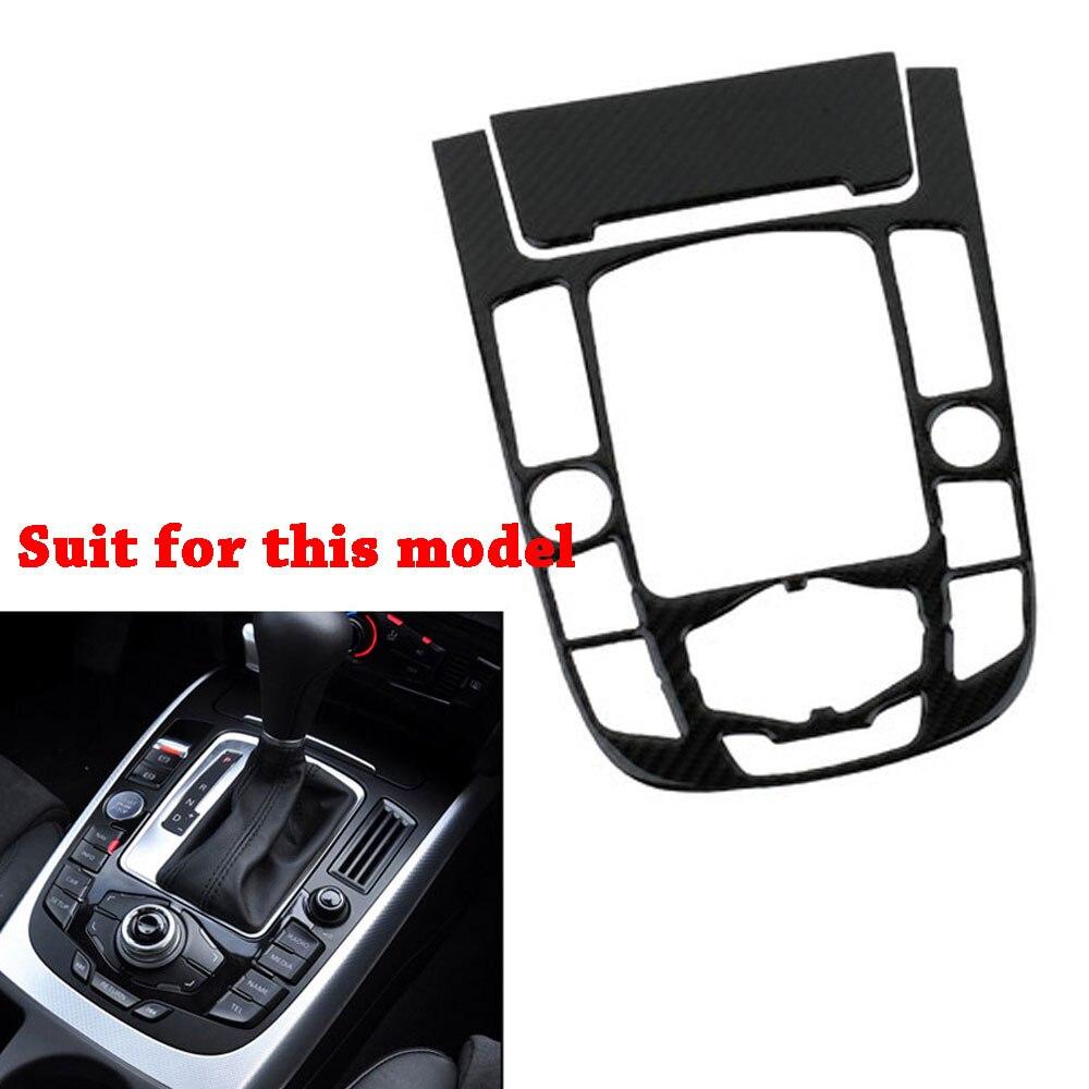 Pour Audi A4 A5 B8 panneau de commande central de voiture couvertures décoratives bande de Fiber de carbone autocollant 3D pour Audi style intérieur de voiture
