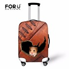 FORUDESIGNS Case Cover Thick Elastic Luggage Protective Cover Zipper Suit For 18-30 inch Trunk Case Travel Suitcase Covers Bags