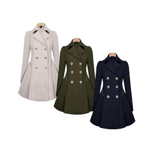 Image 5 - Trench Coat à manches longues pour femme, Trench Coat à manches longues, manteau dhiver classique à taille fine, offre spéciale