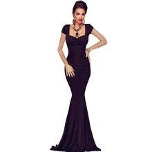 2016 Office Dress Direct Selling Long Dress Vestidos De Fiesta Robe Sexy Maxi Collar Short Sleeved Halter Fishtail Slim 61120