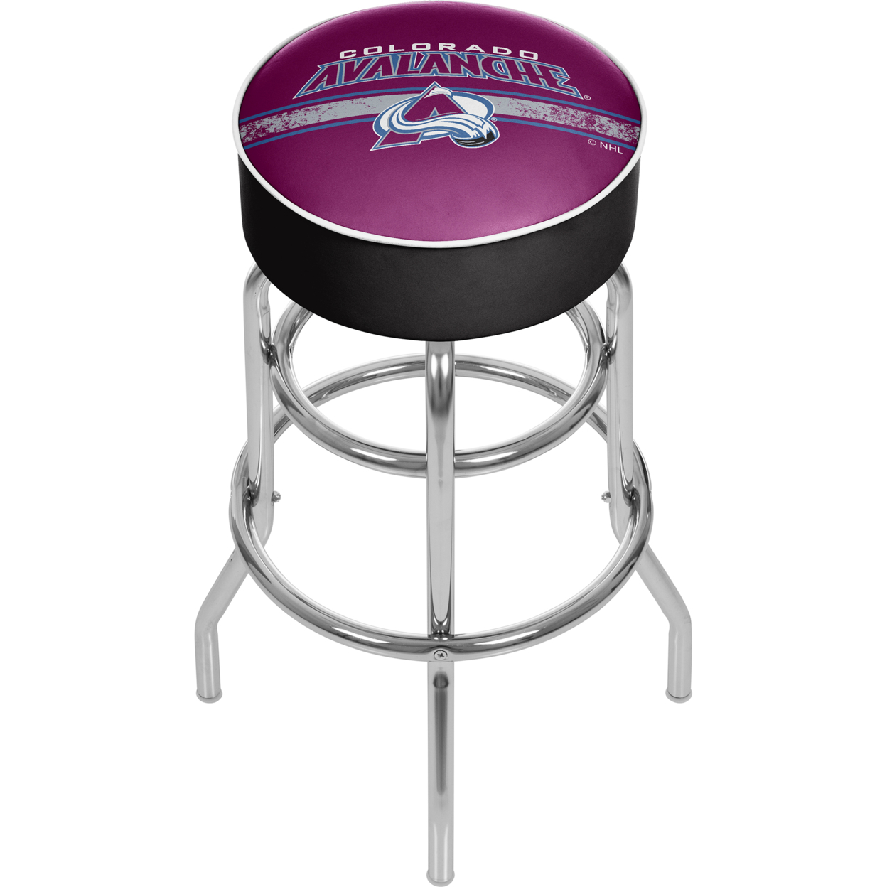 NHL Chrome Bar Stool with Swivel - Colorado Avalanche