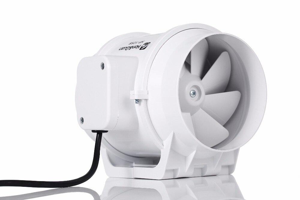 5 HF-125S 5Inch Inline Duct Fan Extractor Exhaust Fan Mixed Flow Ventilation System fantech fr 250 inline centrifugal 10 duct fan molded housing ã° 649 cfm