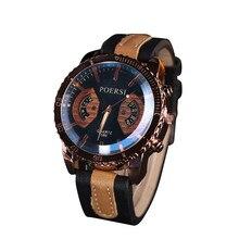 Horloges Watch 2017 Luxury Brand Menes Male Clock Casual Leather Quartz Wristwatch Men's Sport relogio masculino erkek kol saati
