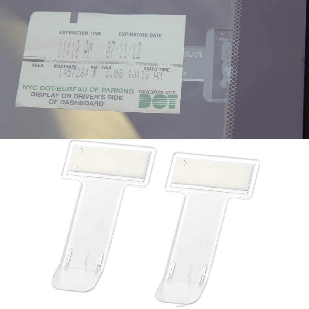 1 Paar Auto Parking Ticket Houder Clip Automotive Interne Organizer Auto Styling Voor Auto Voorruit Fastener Stickers 7*4*0.1 Cm