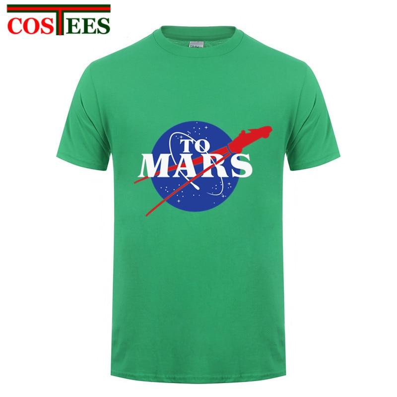 Starmanx hombres SpaceX camiseta Elon Musk espacio y su viaje a Marte starman coche camiseta Rocket camiseta Tesla roadster Camisetas Tees