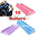 20PCS/lot Hair Curling Magic Air Hair Roller Curler Bendy Magic Styling Hair Sticks-in Hair Rollers random color