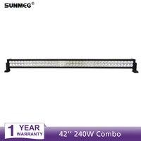 Sunmeg Car LED Light Bar 240W Super Bright Spotlight 42 Inch LED Work Light for Boat Car Truck 4x4 SUV ATV Off Road Fog Lamp