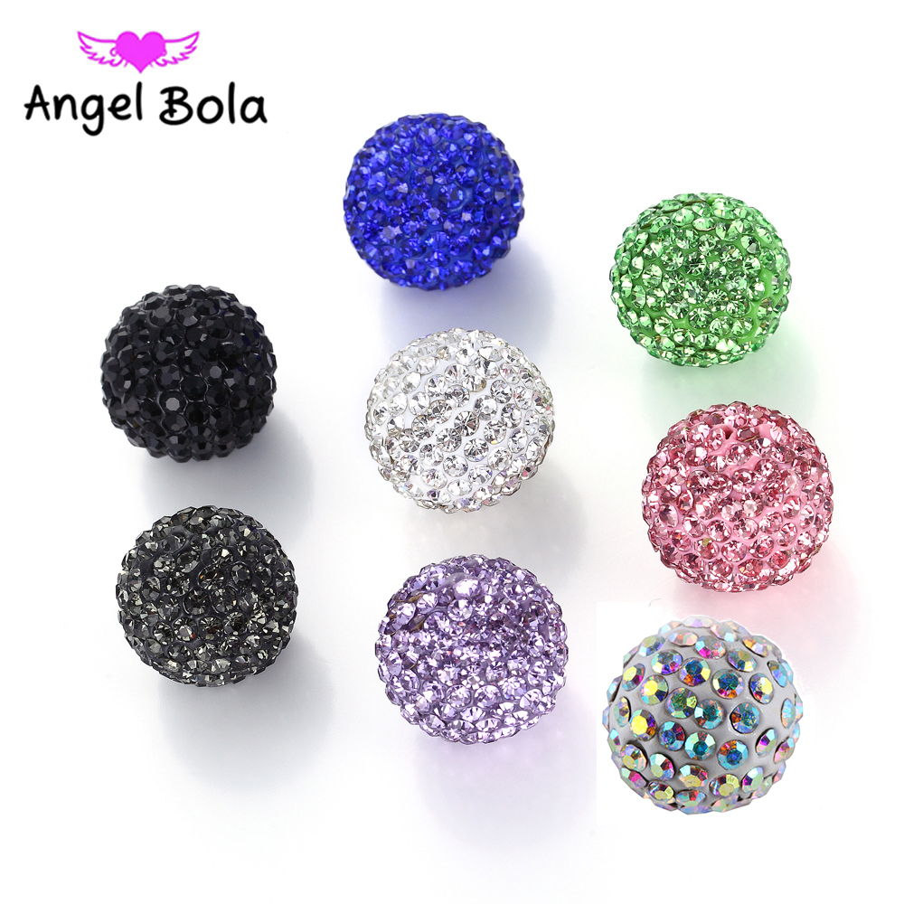 16mm 8 colour Rhinestone crystal bell angel ball for Cage Pendant necklace Bola Crystal Jewelry