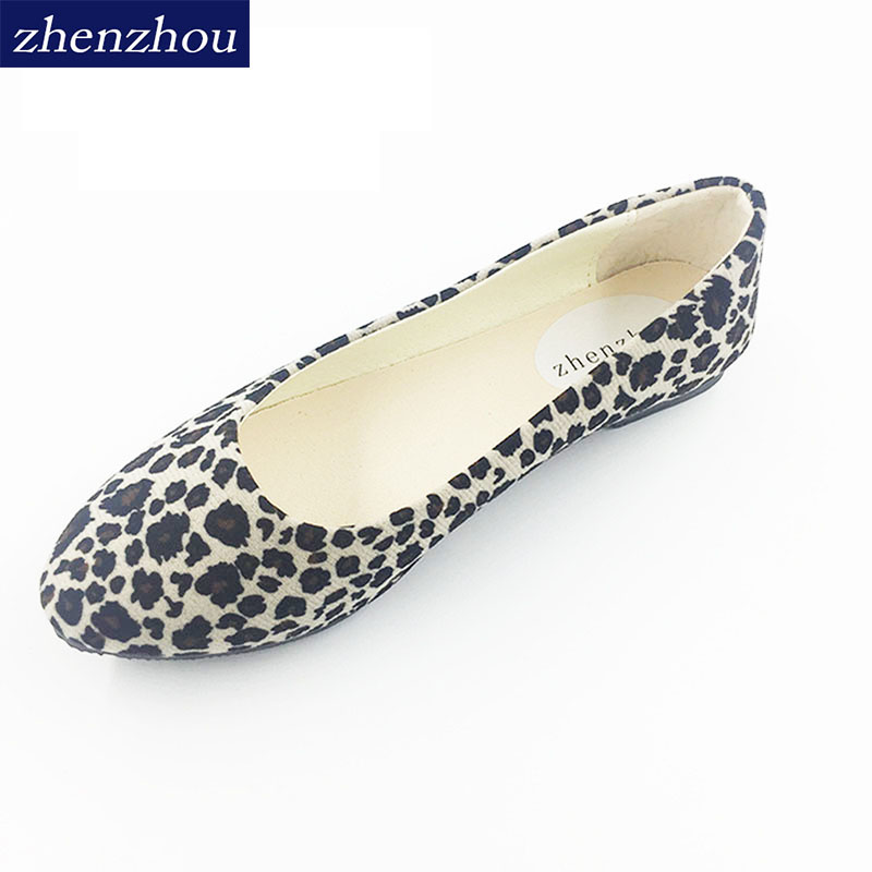 ba6f47e3123b5 2016 maternity shoes spring new boat shoes hit Europe and the United States  hit leopard women s shoes flat heel size
