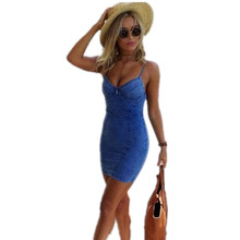 Oyee Summer Sundress Sleeveless Jeans Dress Demin Beach Dress Vestidos Casual Sexy Mini Bodycon Party Dresses Plus Size OS50