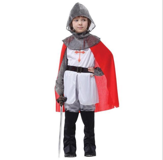 New Crusader Knight Warrior medieval Halloween Carnival Party fantasy Costume for kidsChildu0027 anime  sc 1 st  AliExpress.com & New Crusader Knight Warrior medieval Halloween Carnival Party ...