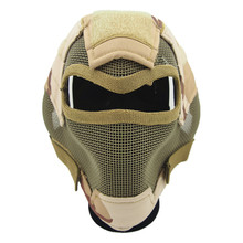 V7 ultimate steel wire mesh mask 2015 hunting tactical protective airsoft mask GZ90054