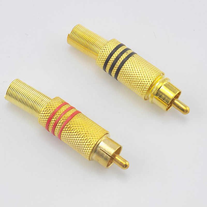 Kualitas Tinggi RCA Male Plug Konektor Non Solder Audio Video Mengunci Kabel Adaptor Steker untuk Video Ip Kamera CCTV Kamera keamanan