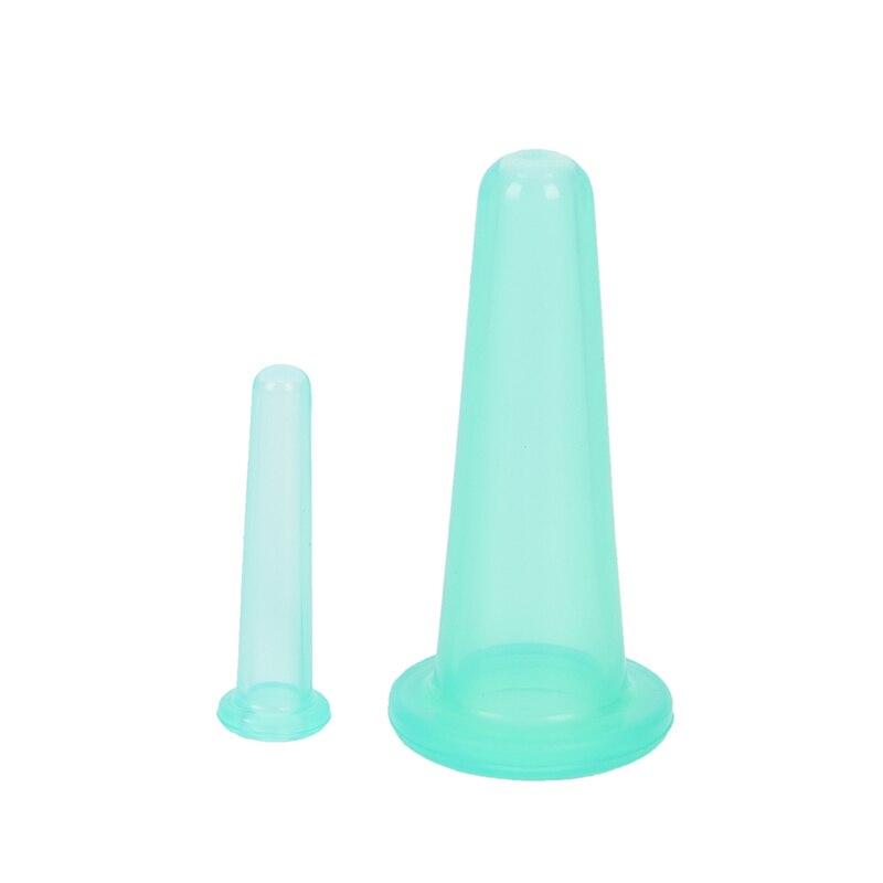 2 шт., забота о здоровье, Антицеллюлитный силиконовый вакуумный массажер для тела, шеи, лица, спины, массажер - Цвет: Синий