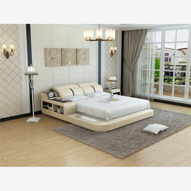 0413 Lb8821 Top Quality Modern Style Bedroom Furniture Leather Bed
