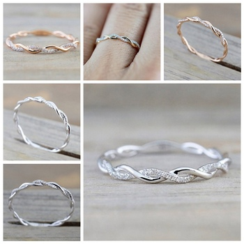 Round Twist Rope Ring