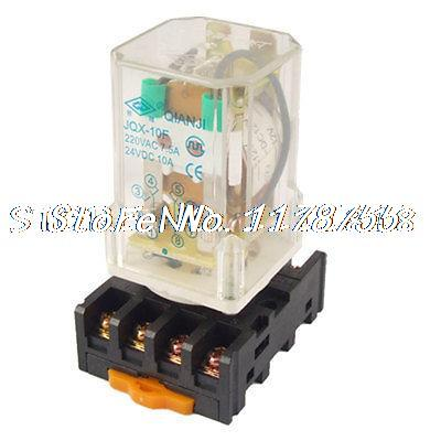 JQX-10F-3Z DC 12V Coil Electromagnetic Relay DPDT 8 Pin 2 NO 2 NC w Socket dinesh kumar inter american system of human rights an analysis