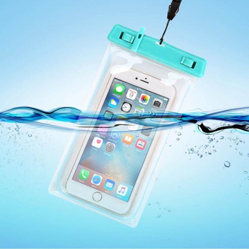Waterproof Mobile Phone Bag Strong Waterproof Luminous With Whistle Bag / Swimming Rafting Water Sports Essential 5 Colors