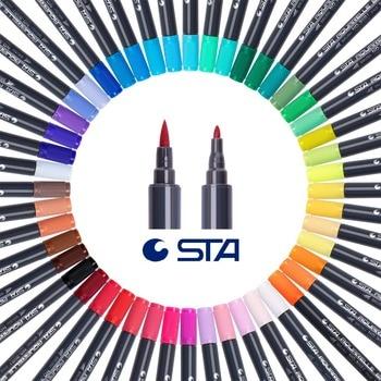 STA 36/48 colores de doble cabeza acuarela Rotulador con la punta ...