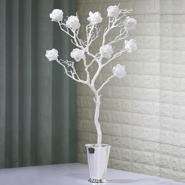 acheter artificielle rose fleurs p te diamants blanc corail s ch es d coration. Black Bedroom Furniture Sets. Home Design Ideas