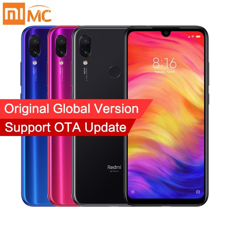 Global Versão Xiaomi Redmi Nota 7 4 GB GB Snapdragon 660 48MP 64 + 13MP Dual Camera 6.3 ''Completa 4000 mAh tela OTA 4G LTE Smartphones
