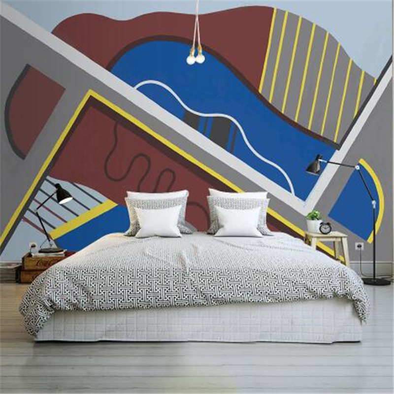 Custom Photo Wallpapers 3D Stereoscopic Modern Wall Papers Geometric Murals for Living Room Bedroom Background Walls Home Decor the custom 3d murals parks sunrises and sunsets trees heart grass nature wallpapers living room sofa tv wall bedroom wall paper